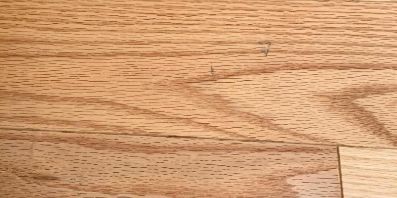 markings on Karm's kitchen floor